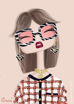 Gucci sunglasses zebra