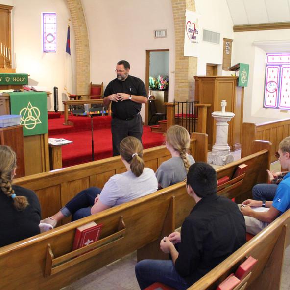 Chapel with Pastor Schmidt