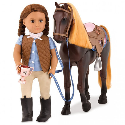 סוס ת'ורוברד - Thoroughbred Poseable Horse