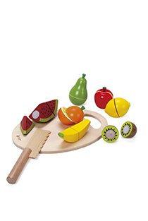 ערכת פירות / ירקות לחיתוך מעץ