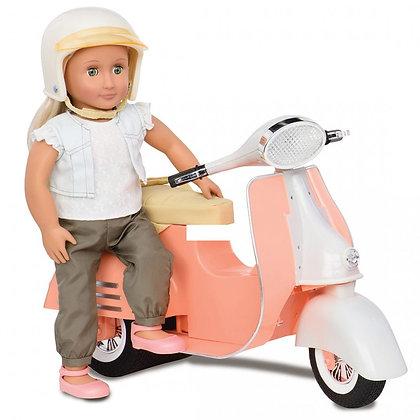 קטנוע שנהב אפרסק לבובה