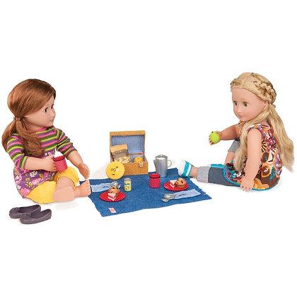 סט פיקניק בטבע למשחק עם בובות