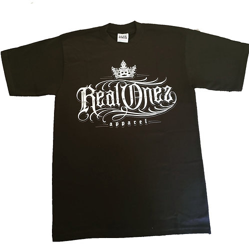 Real Onez Black Silver T Shirt