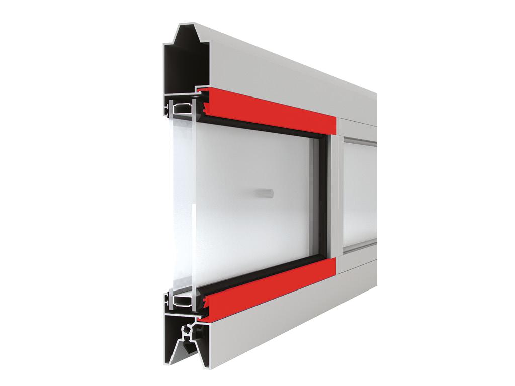 Панорамная панель с однокамерным стеклопакетом