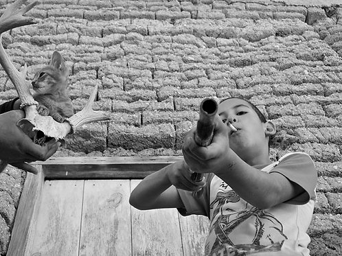 Joel Orozco Kid Smoking with Toy Gun