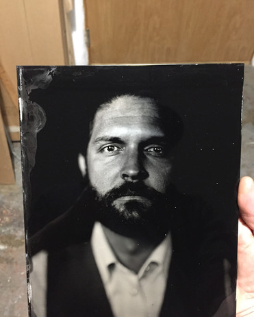 """8""""x10"""" tintype from a portrait studio session at Foto Forum"""