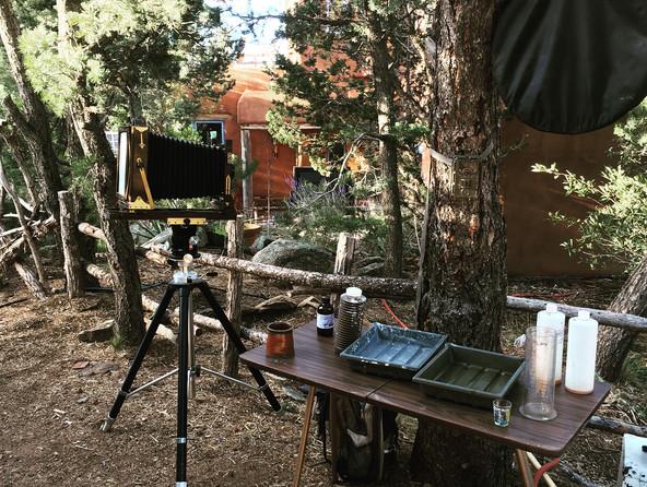 outdoor wetplate workshop set up