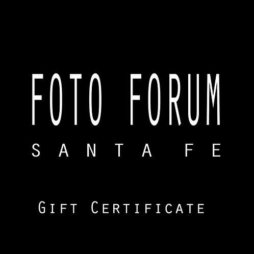 Foto Forum Gift Certificate