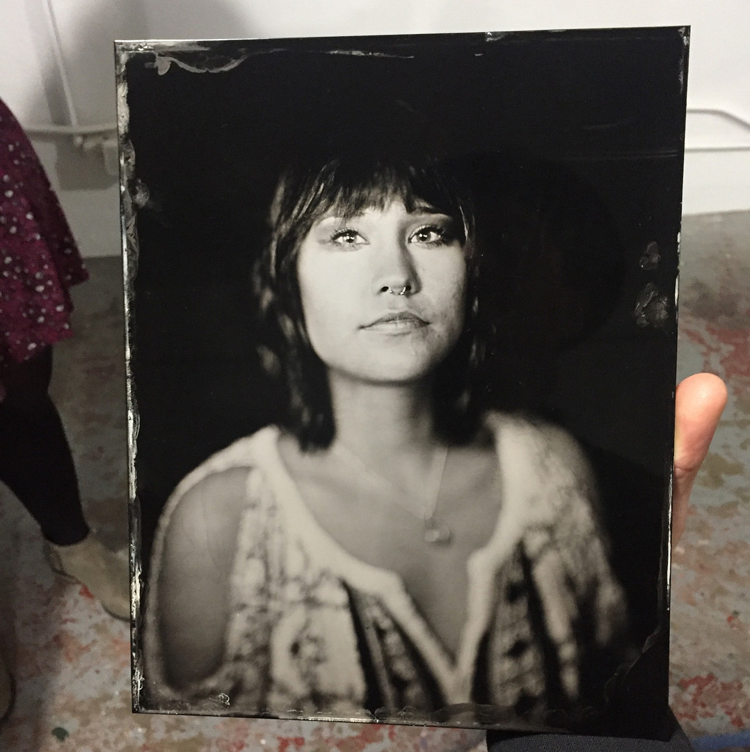 "8""x10"" tintype from a workshop at Foto Forum"