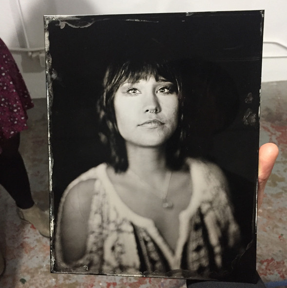 """8""""x10"""" tintype from a workshop at Foto Forum"""