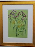 framed original ironweed in pastel