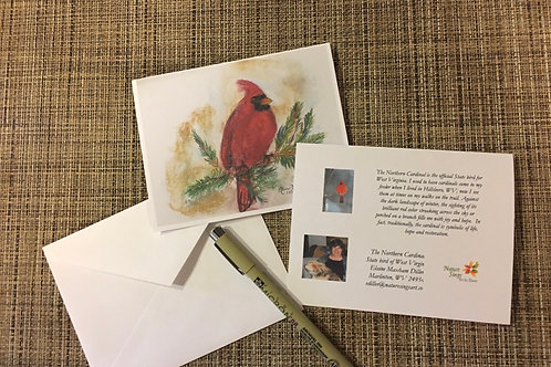 Note Card: Northern Cardinal