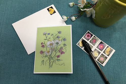 Note Card: Daisies