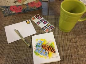 Honey Bee Note Card