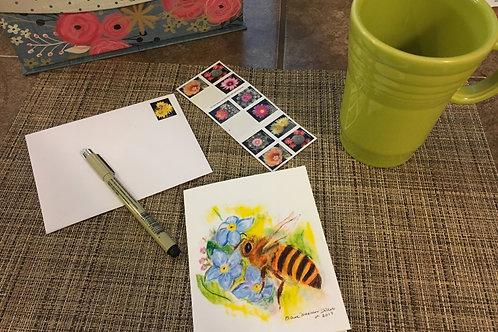 Note Card: Honey Bee