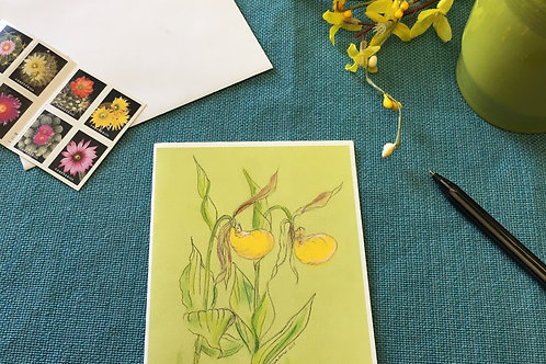 Note Cards: Yellow Lady Slipper