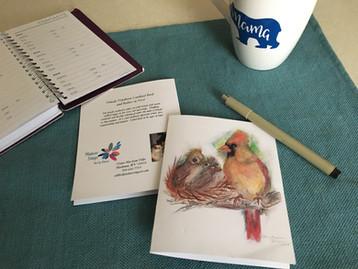 Female Cardinal Note Card