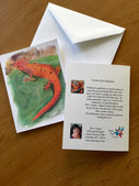 Northern Red Salamander Note Card