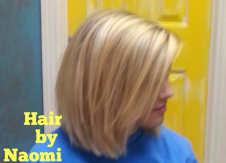 Blonde Highlights and a Long Bob