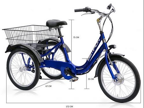 """Sempion Triciclo Elettrico 20""""  24"""""""