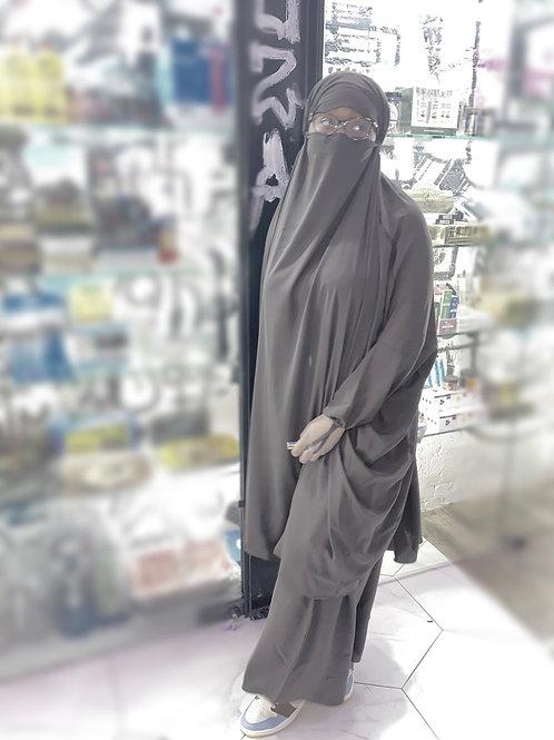 Dark Grey 2pc jilbab