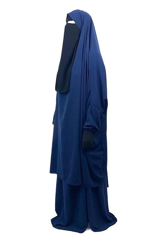 Navy Blue 2pc jilbab