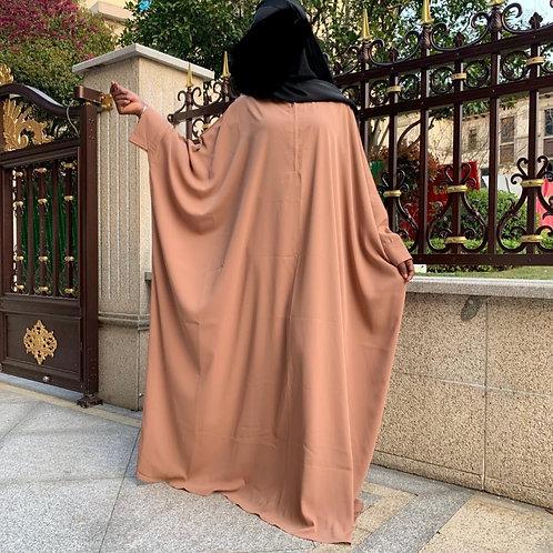 Beige Butterfly Abaya