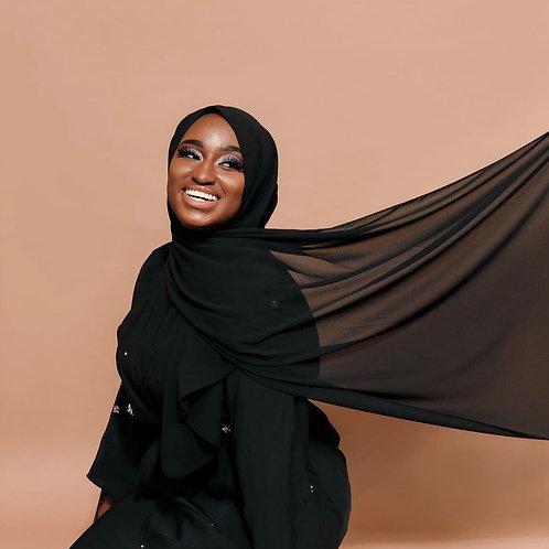 Black  Instant Hijab