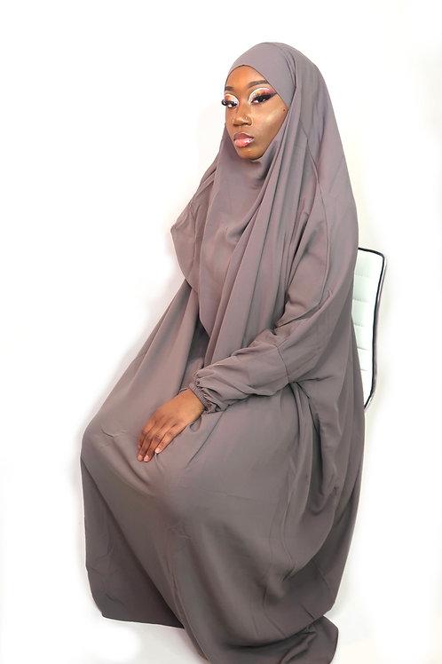 1 Pc Front Pocket Grey Jilbab