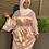 Thumbnail: Rose Gold Ruched Satin Dress