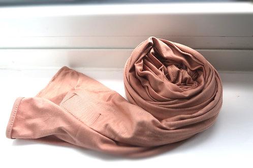 Premium Peach Jersey Hijab