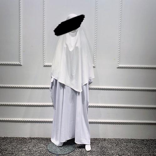 White Butterfly Abaya