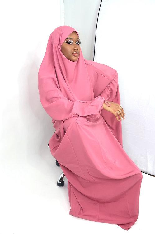 1 Pc Front Pocket Mauve Jilbab