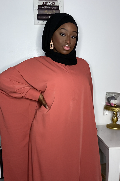 Burnt Orange Butterfly Abaya