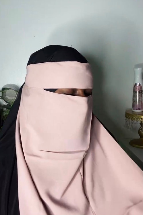 Light pink  niqab