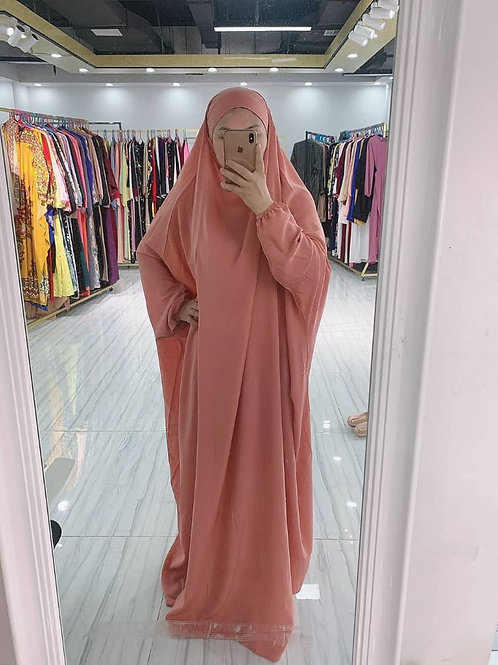 Peach jilbab