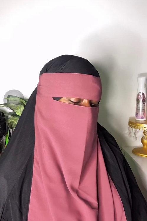 Dusty rose niqab