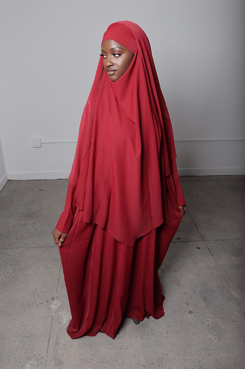 Red  Butterfly Abaya