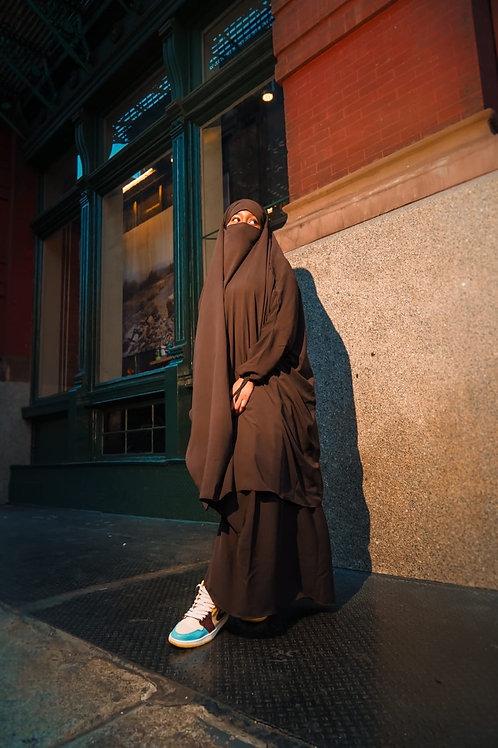 Brown 2pc jilbab