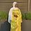 Thumbnail: Yellow Ruched Satin Dress