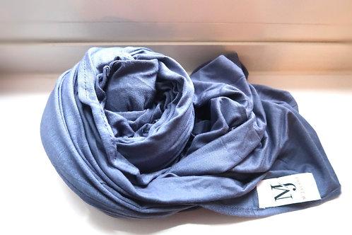 Premium  Moon Blue Jersey Hijab
