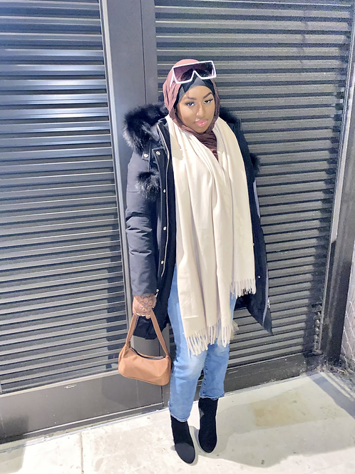 Cream Winter scarf