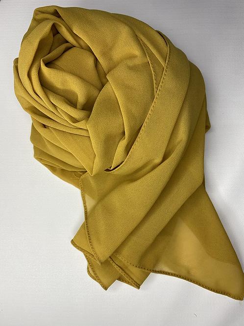 Mustard chiffon hijab