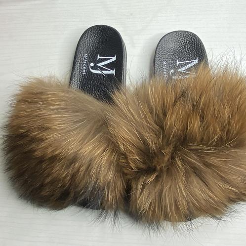 Natural Large Fur Slide