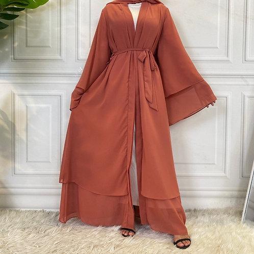 Peach Abaya + Hijab Set