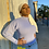Thumbnail: Puff sleeve knit baby blue top