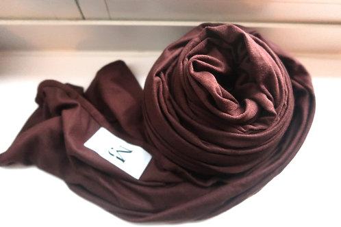 Premium Chocolate Jersey Hijab