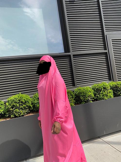 Hot pink 1pc Prayer Dress