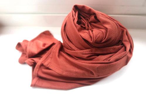 Premium Burnt Orange Jersey Hijab
