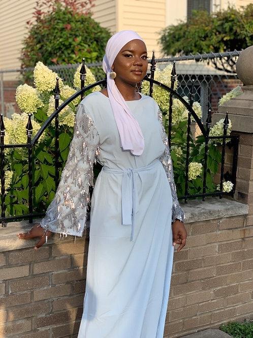 Sequin Sleeve abaya